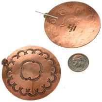 Indian Copper Concho French Hooks 22369