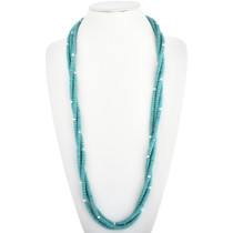 Three Strand Navajo Turquoise Necklace 29182