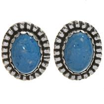 Denim Lapis Silver Earrings