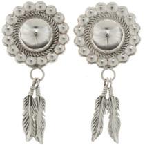 Silver Concho Dangle Earrings 26537