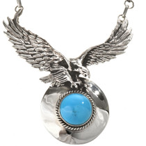 Silver Eagle Y Necklace
