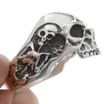 Sterling Skull Mens Ring 26773