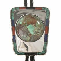 Inlaid Navajo Bolo Tie