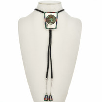 Turquoise Silver Bolo Tie