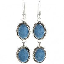 Denim Lapis Silver Earrings 29069