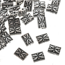 7mm by 3mm Pewter Bali Beads One Ounce apx 70 count 0185