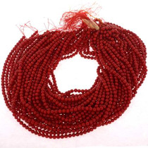 16 Inch Red Coral Strands 25539