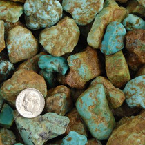 "Mashan Rough Turquoise Nuggets Green to Blue Small 1/4"" to 1"" One Pound"