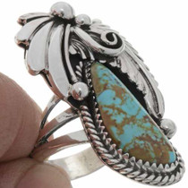 Silver Turquoise Southwest Ring 27131