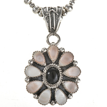 Pretty Pink Shell Onyx Indian Pendant 28879