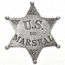 US Marshal Western Silver Badge 28996