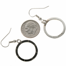 Inlaid Silver Southwest Dangle Earrings 19703