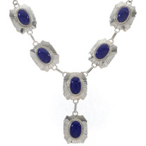 Lapis Silver Necklace 27778
