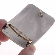 Handmade Engraved Silver  Belt Buckle 23386