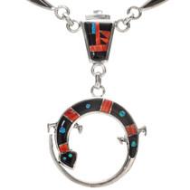 Spiny Oyster Opal Jet Necklace 29567