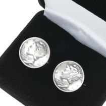 Mercury Dime Cuff Links 19619