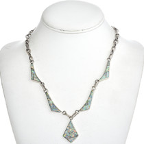 Inlaid Opal Southwest Link Necklace 15169