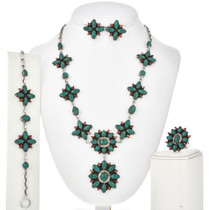 Turquoise Spiny Oyster Y Necklace Set 29158
