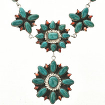 Turquoise Shell Link Necklace 29158