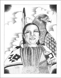 Limited Edition Native American Print by Native American Frankie C Nez 2