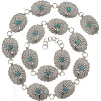 Sleeping Beauty Turquoise Concho Belt 26192