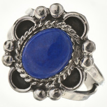 Blue Lapis Silver Ring 28602