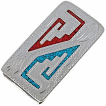 Turquoise Silver Money Clip 21044