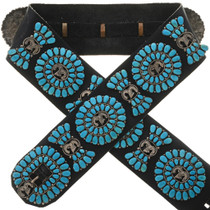 Turquoise Ram Concho Belt 28403