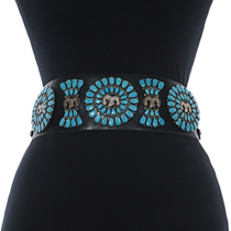 Sleeping Beauty Turquoise Concho Belt 28403
