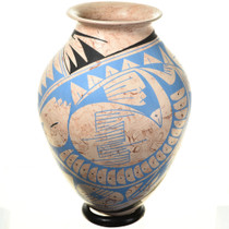 Polychrome  Clay Pot