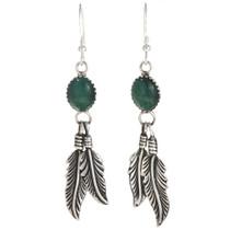 Malachite Silver Navajo  Earrings