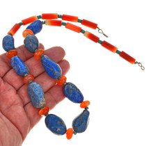 Lapis Carnelian Southwest Choker Necklace 29533