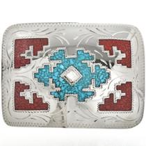 Inlay Turquoise Belt Buckle 6068