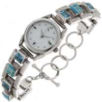 Blue Topaz Link Watch 21622
