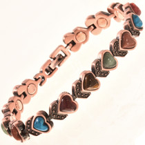 Copper Agate Tennis Bracelet 28739