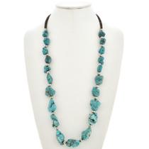 Turquoise Nugget Santo Domingo Style Necklace 29853