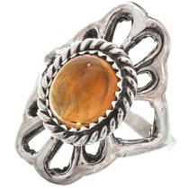 Citrine Ladies Silver Navajo Ring Old Pawn 29869