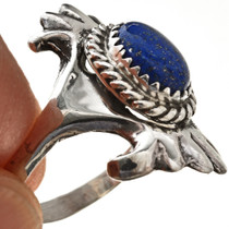 Blue Lapis Sterling Native American Ring Ladies 29873