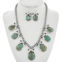 Navajo Turquoise Necklace Set 29878