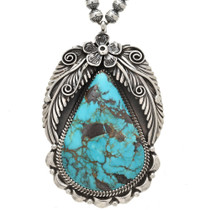 Navajo Turquoise Sterling Pendant 29883