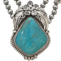 Kings Manassa Turquoise Navajo Pendant 0012