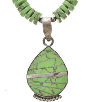 Green Turquoise Pendant and Necklace 29903