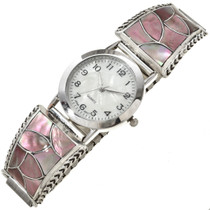 Pink Shell Zuni Ladies Silver Watch 29928