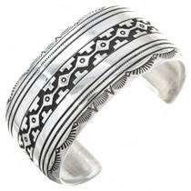 Overlaid Silver Cuff Bracelet 29989