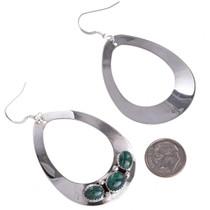 Silver Teardrop Navajo Earrings 29992