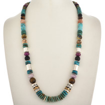 Tommy Rose Singer Turquoise Silver Necklace 30004