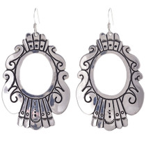 Hammered Silver Tommy Rose Singer Earrings 30006