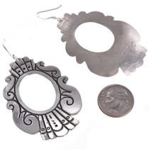 Tommy Rose Singer Silver Navajo Earrings 30006