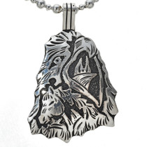 Navajo Overlay Horse Pendant Sterling Silver 30022