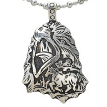 Navajo Overlay Horse Pendant Sterling Silver 30025